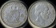 Netherlands : 1869 2 1/2  Gulden CH.AU-UNC Lots Of Luster  # 82  IR4531