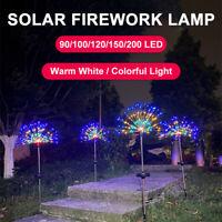 IP65 Solarlampe LED Feuerwerk Lichterkette Garten Mehrfarbig Außen