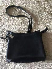 VINTAGE ORIGINAL BLACK LEATHER COACH BAG ADJ STRAP COACH KEYCHAIN No-G80-9062