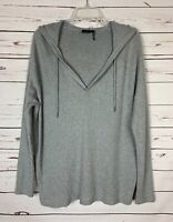Out From Under by Urban Outfitters Gray Thermal Hooded Top Shirt Women's S Small