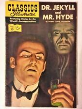 CLASSICS ILLUSTRATED COMIC #13 (HRN 153) DR JEKYLL MR HIDE GILBERTON CO c.1944