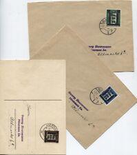 Lokal Glauchau-Lot 1, 10 + 12 je als EF auf Brief/Karte nach Meerane (B07076)