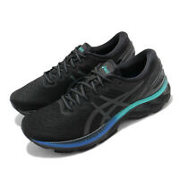 Asics Gel-Kayano 27 Lite-Show Black Blue Men Running Shoes Sneakers 1011B094-001