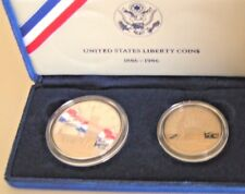 1986-S $1 Statue of Liberty Silver Dollar Proof Set Half Dollar Original Owner