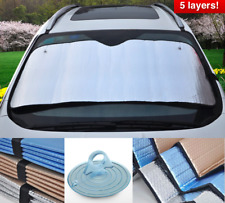 Car Sun Shade Front Interior Air Bubble Insulated 5 Layers Window Visor Fast Po