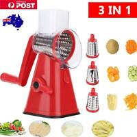 Multifunction Vegetable Slicer Cutter Grater Manual Food Chopper Machine+3 Blade