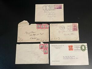 SET OF OLD STAMPED ENVELOPES ALL FROM OHIO 1930'S & 40'S GREAT SET HERE