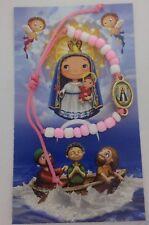 Caridad Del Cobre pulseras Rosada Y Blanca Para Niñas Lady Charity Kids Bracelet