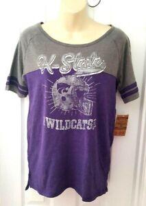 Kansas State Wildcats Womens T Shirt Size Medium 8/10 Jersey Style Football New