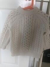 boys cream chuncky burberry sweater 4 years
