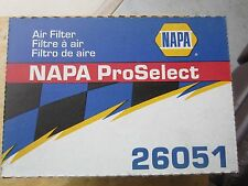 NAPA 26051 ProSelect AIR FILTER NEW IN BOX AS PICTURED.