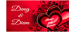 Red Heart License Plate (Valentine Heart) Personalize for free