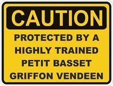 Raza Perro Basset Griffon Vendeen precaución Pegatina Petit Mascota para puerta de coche de parachoques