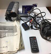 SONY Digital 8 Handycam DCR-TRV 460 20x Optical 990 X Digital Zoom Bundle