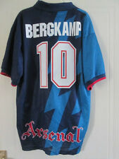 Arsenal 1995-1996 Bergkamp 10 Away Football Shirt Size XL Gunners /37867