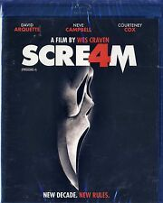 Scream 4 (BRAND NEW Blu-ray Disc)NEVE CAMPBELL,COURTENEY COX,DAVID ARQUETTE
