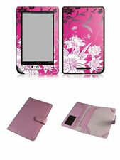 Happybird Nook Tablet Nook Color Case Cover with skin combo-pink A set2(G012)