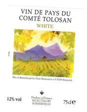 Etiquette de vin - Wine Label - Vin de Pays du Comté Tolosan - White