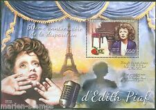 CENTRAL  AFRICA 2013 50th MEMORIAL ANNIVERSARY EDITH PIAF S/SHEET  MINT  NH