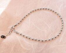 Aquamarine Bead Bracelet with Silver Beads