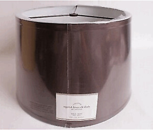 NWT Pottery Barn Silk Tapered Lamp Shade - Brown/Espresso