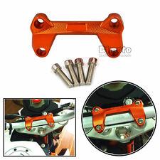 CNC Aluminum Motorcycle Handlebar Riser Top Cover for KTM DUKE125 200 390 Orange