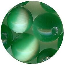 OC4/VF=20 perles verre OEIL CHAT  extra 4mm VERT FONCE