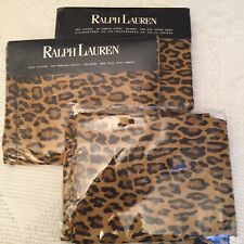 RALPH LAUREN  ARAGON LEOPARD 4 PC FULL SHEET SET  Blue Tag NIOP