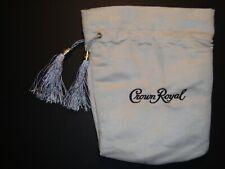 "Crown Royal Monarch 75th Anniversary bag silver 750 ml tassels 9"" x 8"" marbles"