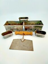 More details for vintage hovis loaf tins x5 and dough divider. kitchenalia. bread. collectable.