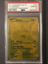 Pokémon PSA 10 Legendary Treasures Gold Zekrom 115/113 Secret Rare F.A. GEM MT
