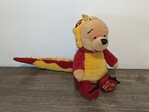 "WINNIE THE POOH CHINESE DRAGON Walt Disney 8"" Plush Doll/Stuffed Animal Beanie"