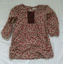 Girls NEXT Corduroy Floral Dress Age 1.5 - 2 Years