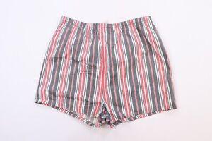 Vintage 80s Streetwear Mens 40 / 42 Multicolor Striped Lined Shorts Swim Trunks