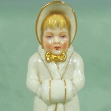 Winter Child Figurine Fine Porcelain Registered England Half Doll Details