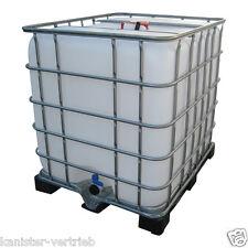 IBC 1000 Liter gebrauchter Container Wassertank Regenwassertank + Plastikpalette