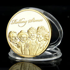 Rolling Stones Münze Golden Medaillie Iron Coin Mick Jagger Keith Richards pro