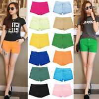 Girls Sexy Women's Fashion Slim Casual Candy Colors Shorts Short Jeans Hot Pants