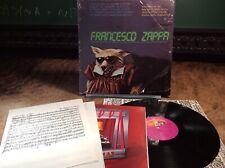 FRANK ZAPPA Francesco Zappa BARKING PUMPKIN LP VG+