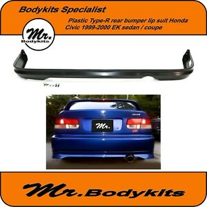 Mr PP Plastic Type-R Rear Lip Suit Honda Civic EK Series 1999-2000 sedan