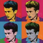 """36Wx36H"""" JAMES DEAN RITRATTO COLOR by VAN LORY - WARHOL-STYLE CHOICES of CANVAS"""