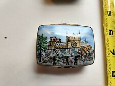FRENCH LIMOGES TRINKET BOX PARIS FRANCE Peint Main