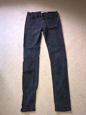 Topman Mens Black Stretch Skinny Jeans 30R