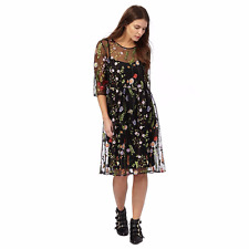 Red Herring Multi-Coloured Embroidered Tea Dress Size 16 rrp £59 LF079 PP 11