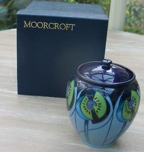 "2013 POTTERY MOORCROFT LIDDED JAR 6"" TALL ORIGINAL BOX"