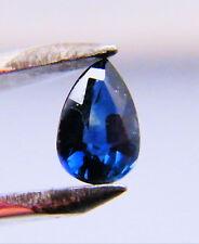 Australian Natural Sapphire 6mm x 4mm Pear Cut Dark Blue / Black Loose Stone