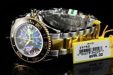 Invicta Men's 48mm Pro Diver Abalone Dial Two Tone Quartz Screw down Crown Watch