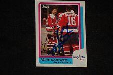 HOF MIKE GARTNER 1986-87 TOPPS SIGNED AUTOGRAPHED CARD #59 WASHINGTON CAPITALS