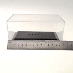 Model Cars Acrylic Case Display Box Transparent Dustproof Black Base 1/43 IXO