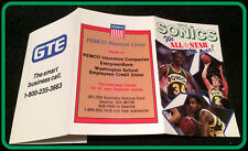 1986-87 SEATTLE SUPERSONICS SEATTLE PEMCO FINANCIAL BASKETBALL POCKET SCHEDULE